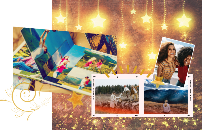 A Tale in Motion in which memorable moments and significant life events are captured in dynamic image, text and sound.